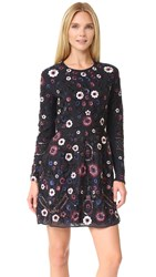 Needle And Thread Long Sleeve Embroidered Folk Dress Midnight