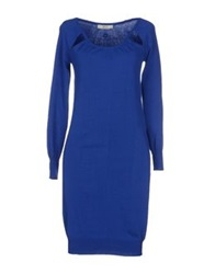 Guess By Marciano Short Dresses Blue