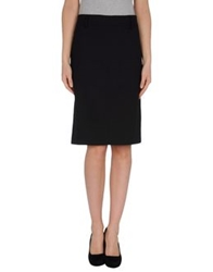 Gunex Knee Length Skirts Black