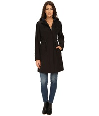 Rainforest Packable Anorak W Contrast Roll Back Cuff Black Women's Coat