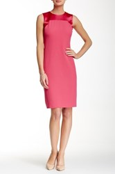 Anne Klein Sleeveless Sheath Dress Pink