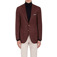 Isaia Men's Sanita Wool Cashmere Two Button Sportcoat Red