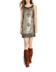 Polo Ralph Lauren Beaded Shift Dress Grey