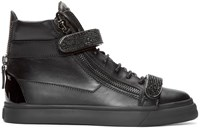 Giuseppe Zanotti Black Studded High Top London Sneakers