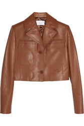 Jonathan Saunders Iris Cropped Leather Jacket