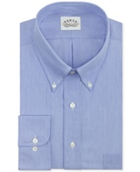 Eagle Big And Tall Non Iron Blue Feather Stripe Pinpoint Dress Shirt