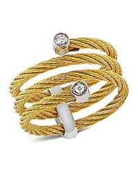 Alor Diamond Yellow Cable Ring Gold