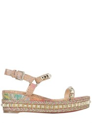 Christian Louboutin 60Mm Cataclou Studded Leather Wedges