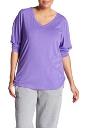 Z By Zella Lose Yourself Long Sleeve Tee Plus Size Purple