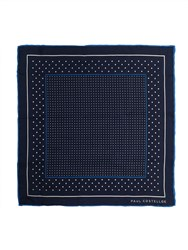 Paul Costelloe Blue Spot Pocket Square