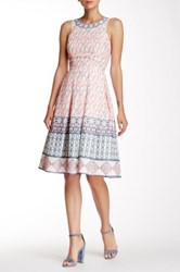 Champagne And Strawberry Pleated Midi Dress Pink