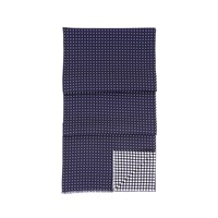 Aspinal Of London Mens Reversible Scarf Midnight Blue
