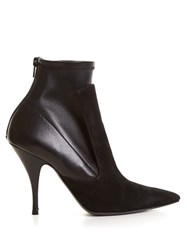 Givenchy Kalli Suede And Leather High Heel Ankle Boots Black
