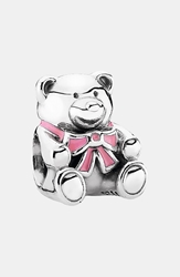 'It's A Girl' Charm Silver Pink Enamel