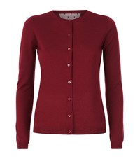 Red Valentino Cashmere Silk Lace Accent Cardigan Female Red