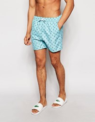 Another Influence Anchor Swim Shorts Blue