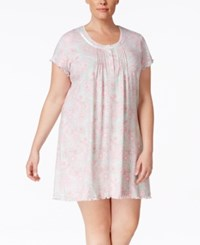 Miss Elaine Plus Size Pleated Nightgown