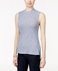 Styleandco. Style And Co. Petite Sleeveless High Low Top Only At Macy's Blue Fleck