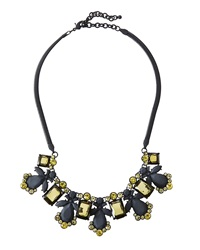 Fragments For Neiman Marcus Fragments Rubber Coated Crystal Bib Necklace