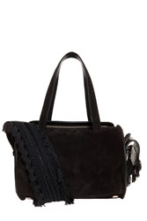 The Row Suede Drum Bag Black