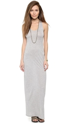 Haute Hippie Scoop Neck Maxi Dress Light Heather Grey