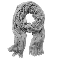 Betty Barclay Long Fringed Scarf Silver Stone