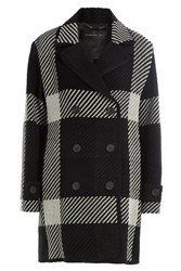 Barbara Bui Plaid Coat Black