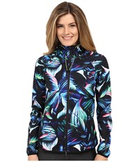 New Balance Windcheater Hybrid Jacket Underwater Floral Women's Coat Blue