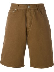 Cmmn Swdn 'Maxime' Denim Shorts Brown