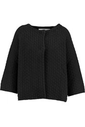 Goat Walker Knitted Cotton Cardigan Black