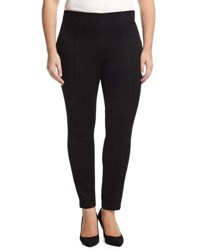 Nydj Poppy Seamed Denim Leggings Black
