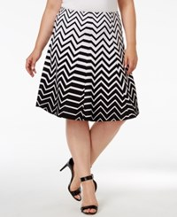 Alfani Plus Size Ombre Zigzag Print A Line Skirt Only At Macy's Ombre Zig Zag