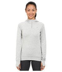 Asics Asx Half Zip Hoodie Light Grey Women's Long Sleeve Pullover Gray