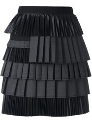 Dsquared2 Draped Ruched Detail Skirt Black