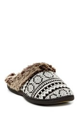 Gold Toe Faux Fur Knit Slipper Black