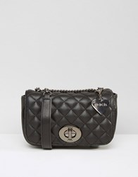 Marc B Small Quilted Cross Body Bag Black