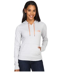 The North Face Lite Weight Pullover Hoodie Tnf Light Grey Heather Feather Orange Women's Sweatshirt Gray