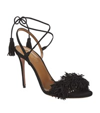 Aquazzura Wild Thing 105 Fringe Sandal Female Black
