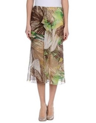 Iceberg 3 4 Length Skirts Khaki