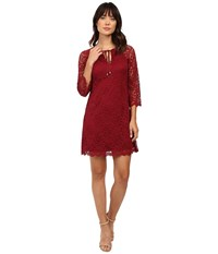 Jessica Simpson Dress Js6d8745 Cabernet Women's Dress Burgundy