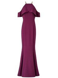 Ariella Rita Drop Shoulder Peplum Dress Purple