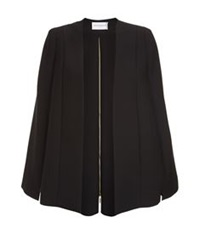 Amanda Wakeley Asayii Zip Detail Cape Black