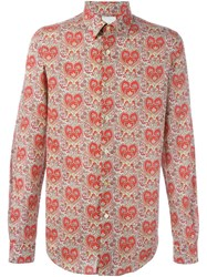 Paul Smith Casual Slim Fit Shirt Red