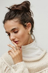 Free People Womens Orchid Chain Earcuff