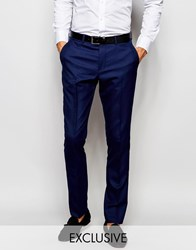 Selected Homme Exclusive Tuxedo Suit Trousers In Skinny Fit Blue