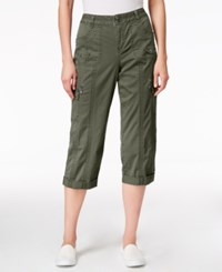 Styleandco. Style Co. Cargo Capri Pants Only At Macy's Olive Sprig
