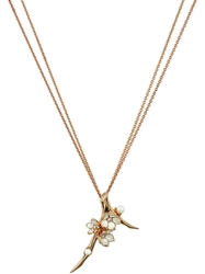 Shaun Leane 'Cherry Blossom' Diamond Long Pendant Necklace Metallic