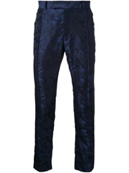 Strateas Carlucci Camouflage Print Trousers Blue