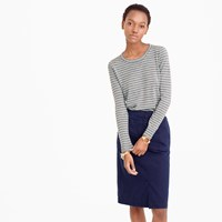 J.Crew Collection Featherweight Italian Cashmere Long Sleeve T Shirt In Stripe