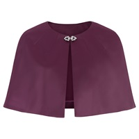 Kaliko Satin Cape Dark Purple